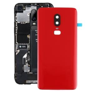 Smooth Surface Battery Back Cover for OnePlus 6(Red)