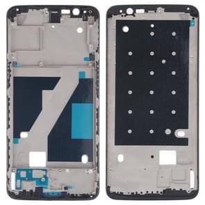 Front behuizing LCD frame bezel plaat voor OnePlus 5T (zwart)