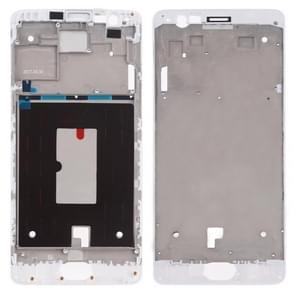Voorzijde behuizing LCD frame bezel Plate voor OnePlus 3 (wit)