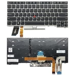 US Backlight keyboard for Lenove ThinkPad E480 L480 L380 Yoga T480s(Silver)