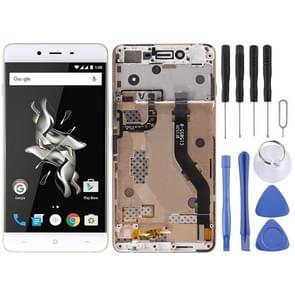 LCD Screen and Digitizer Full Assembly with Frame for OnePlus X E1003 (White)