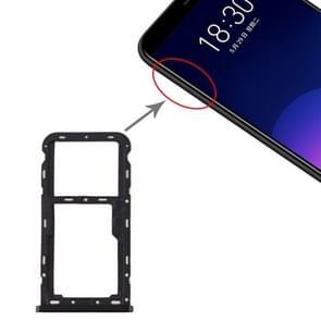 SIM-kaartlade + SIM / Micro SD-kaartlade voor Meizu M6T (Zwart)