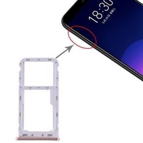 SIM-kaartlade + SIM / Micro SD-kaartlade voor Meizu M6T (Roze)
