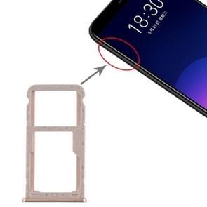 SIM-kaartlade + SIM / Micro SD-kaartlade voor Meizu M6T (Goud)