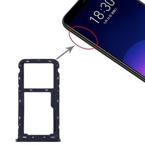 SIM-kaartlade + SIM / Micro SD-kaartlade voor Meizu M6T (Blauw)