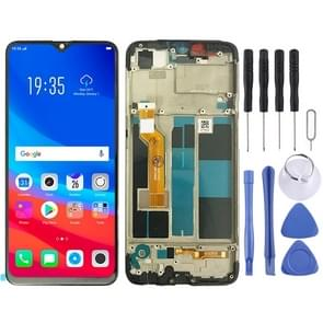 LCD Screen and Digitizer Full Assembly with Frame for OPPO A7X / F9(Black)