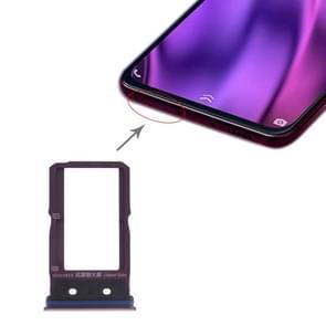 SIM-kaart lade + SIM-kaart lade voor vivo NEX Dual display (paars)