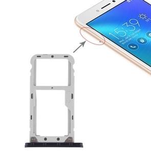 SIM Card Tray + SIM Card Tray / Micro SD Card Tray for Asus Zenfone Live ZB501KL (Black)