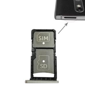SIM-kaart lade + micro SD-kaart lade voor Motorola Droid Turbo 2/XT1585 (goud)