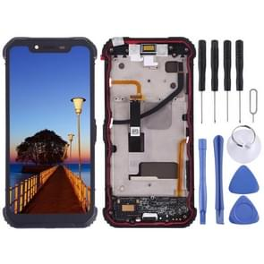LCD Screen and Digitizer Full Assembly with Charging Port Board for Blackview BV9600 Pro(Black)