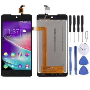 LCD Screen and Digitizer Full Assembly for Wiko Rainbow Lite(Black)
