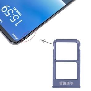 SIMKAARTHOUDER + SIMKAARTHOUDER voor Meizu 16 plus (blauw)