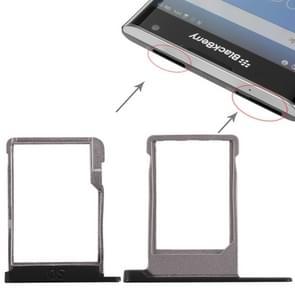 SIM-kaarthouder + Micro SD Card lade voor Blackberry Priv (zwart)