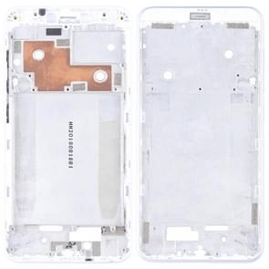 Front Housing LCD Frame Bezel Plate with Side Keys for BQ Aquaris C(Silver)