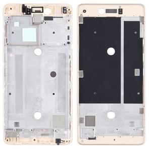Voorzijde behuizing LCD frame bezel Plate voor BQ AQUARIS U plus (goud)