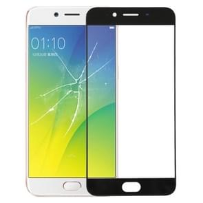 Front Screen Outer Glass Lens for OPPO R9s(Black)