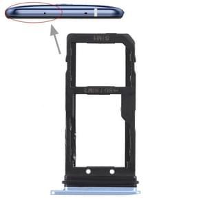 SIM-kaarthouder + SIM Card / Micro SD-kaart lade voor HTC U11 (blauw)