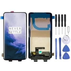 LCD Screen and Digitizer Full Assembly with Frame for OnePlus 7 Pro (Black)