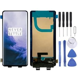 LCD Screen and Digitizer Full Assembly (AMOLED Material) for OnePlus 7 Pro(Black)