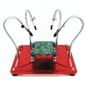 Universal Metal 4 Flexible Arms Magnetic Helping Hands Soldering Work Repair Tool PCB Circuit Board Holder Stand