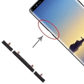 10 set Zijkleutels voor Galaxy Note 8 (zwart)