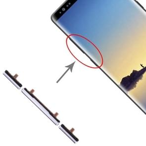 10 Zijtoetsen instellen voor Galaxy Note 8 (grijs)