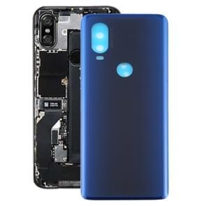 Batterij Back Cover voor Motorola Moto One Vision (Blauw)
