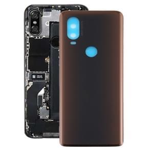 Batterij Back Cover voor Motorola Moto One Vision (Bruin)