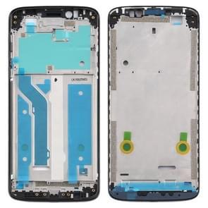 Front Housing LCD Frame Bezel Plate voor Motorola Moto E5 Plus (Zwart)