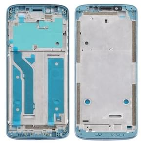 Front Housing LCD Frame Bezel Plate voor Motorola Moto E5 Plus (Blauw)
