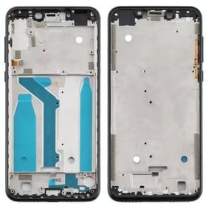 Front Housing LCD Frame Bezel Plate voor Motorola Moto One (P30 Play) (Zwart)