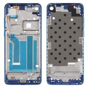 Front Housing LCD Frame Bezel Plate voor Motorola Moto One Vision (Blauw)