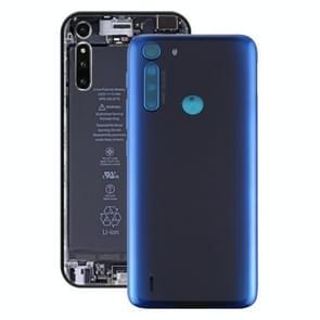 Batterij Back Cover voor Motorola One Fusion (Blauw)