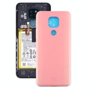 Battery Back Cover voor Motorola Moto G9 Play / Moto G9 (India) (Roze)