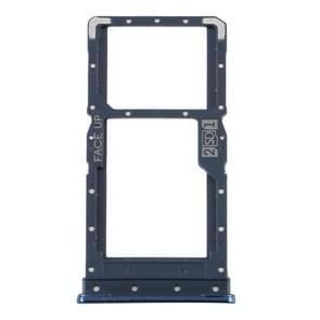 SIM-kaarttray + SIM-kaartlade / Micro SD-kaartlade voor Motorola Moto G9 Plus XT2087-1(Blauw)