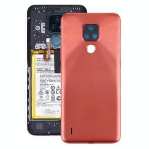 Originele batterij achterkant voor Motorola Moto E7 (Oranje)