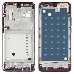Front Housing LCD Frame Bezel Plate voor Motorola One Hyper XT2027 XT2027-1 (Paars)