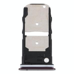 SIM-kaartlade + SIM-kaartlade / Micro SD-kaartlade voor Motorola Edge XT2063-3 (paars)