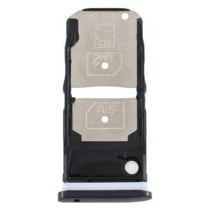 SIM-kaartlade + SIM-kaartlade / Micro SD-kaartlade voor Motorola One Zoom (zwart)