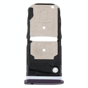 SIM-kaartlade + SIM-kaartlade / Micro SD-kaartlade voor Motorola One Zoom (paars)