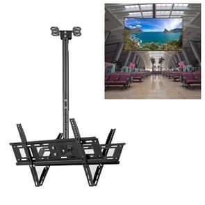 32-70 inch universele hoogte & hoek verstelbare dubbelzijdige TV wandmontage plafond dual-use beugel  intrekbaar bereik: 0.5-2m