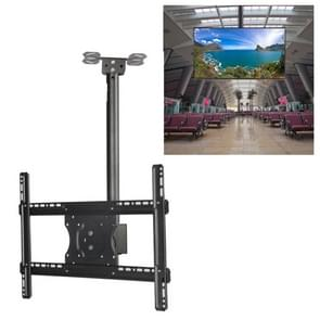 32-65 inch Universal Height & Angle Adjustable LCD TV Wall-mounted Ceiling Dual-use Bracket, Retractable Length: 2m
