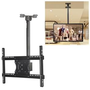32-65 inch Universal Height & Angle Adjustable Single Screen TV Wall-mounted Ceiling Dual-use Bracket, Retractable Range: 0.5-3m