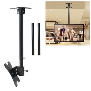 14-42 inch Universal Height & Angle Adjustable Single Screen TV Wall-mounted Ceiling Dual-use Bracket, Retractable Range: 0.5-3m