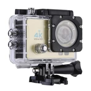 Q3H 2.0 inch Screen WiFi Sport Action Camera Camcorder met waterdichte behuizing  Allwinner V3  170 graden groothoek (Goud)