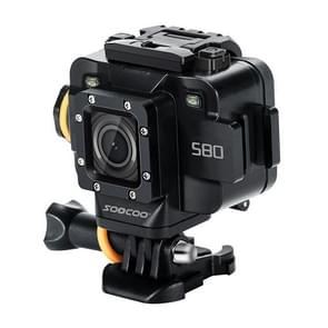 SOOCOO S80 1080P 1.5 inch HD LCD Screen NTK96658 Processor Sports Action Camera, Waterproof Up to 20m, Support WiFi Module APP Control & External MIC & Starlight Night Vision(Black)