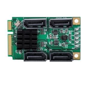 4-poorts SATA III 6G mini PCI Express Marvel 88SE9215 controller kaart