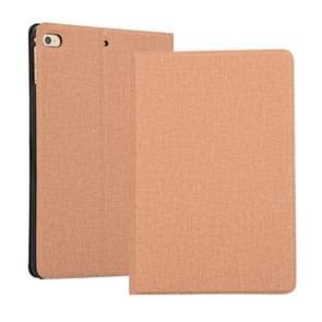 Fabric Texture Horizontal Flip Leather Case for iPad mini 4 / mini 2019, with Holder & Sleep / Wake-up Function(Gold)