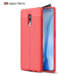 Litchi Texture TPU Shockproof Case for OPPO Reno(Red)