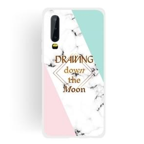 Dreamcatcher Text Semi-transparent TPU Marble Phone Case for Huawei P30